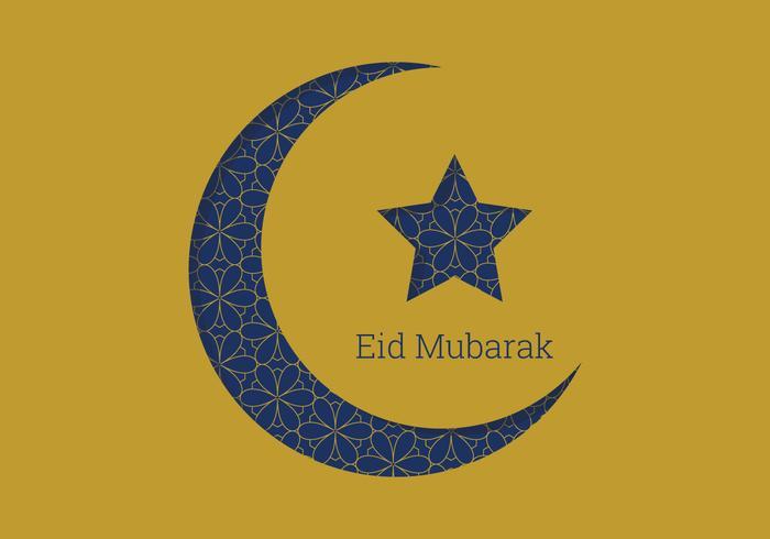 eid mubarak moon design