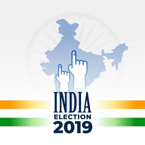 conception de la bannière élection indienne 2019