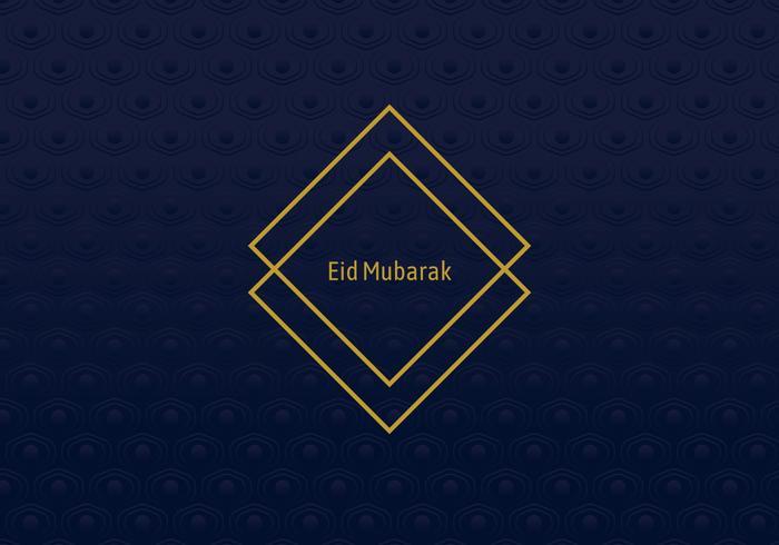 Moldura geométrica Eid Mubarak vetor