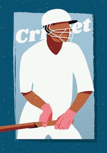 Cricket Player Vector Design