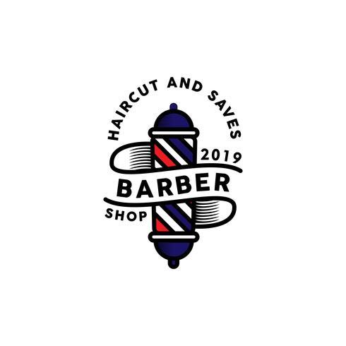 barber logo inspiration design vecteur