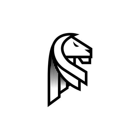 Inspiração de Design de logotipo de leão vetor