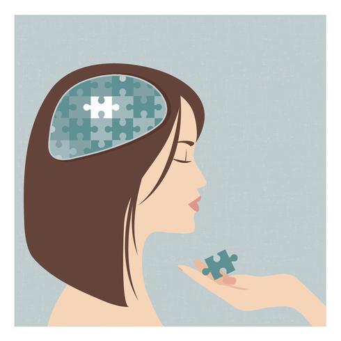 Vector de ilustración de salud mental
