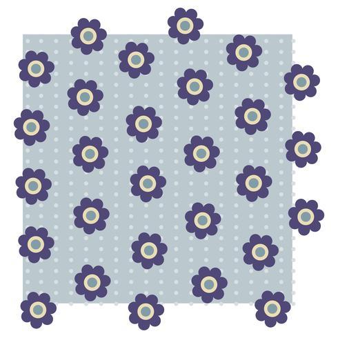 Modèle d'illustration fleur motif vector design