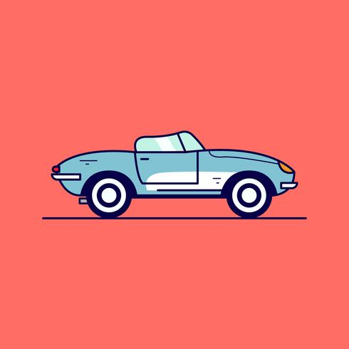 Vetor de carro retrô
