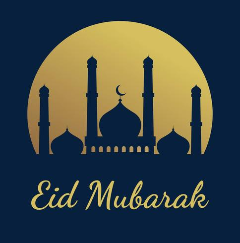 Linda Eid Mubarak vetor