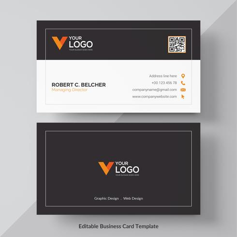 Cartão de visita criativo moderno e cartão de nome