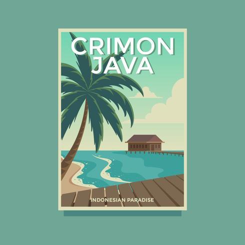Vektorvorlage Crimon Java Retro Poster