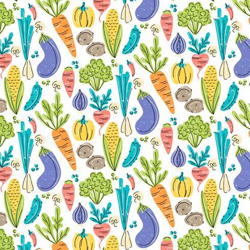 Padrão sem emenda de legumes de vetor