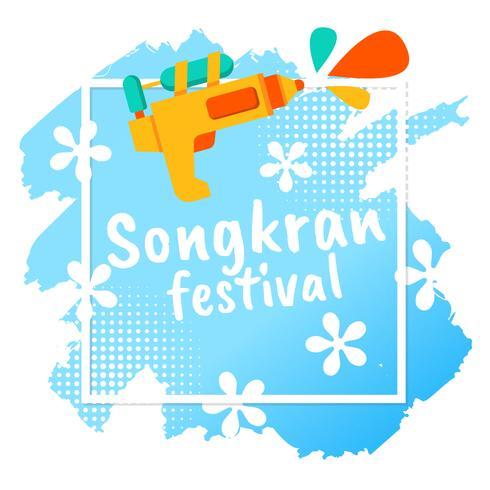 Festival de Songkran Tailândia Vector