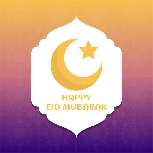 Unique Eid Mubarak Vector