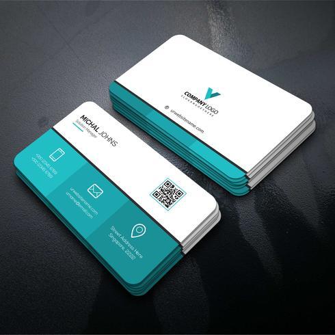 Design de vetor elegante cartão corporativo
