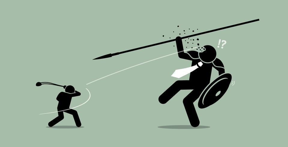 David contra Goliat.