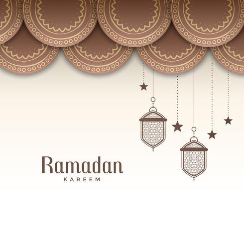 cumprimento decorativo do festival do ramadan kareem