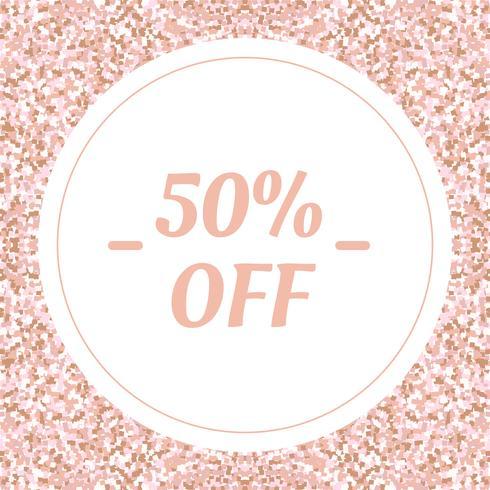 Banner de mídia social para o seu blog ou empresa. Rosa bonito do ouro da rosa da pastel um design moderno. Modelo de vetor