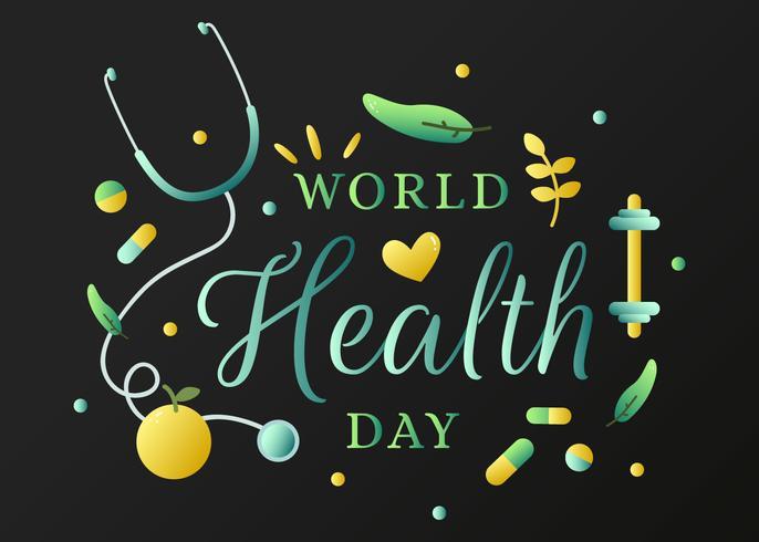 Vector Día Mundial de la Salud