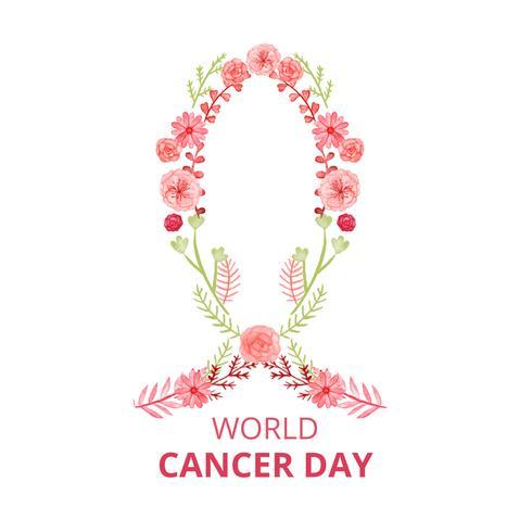 Nettes Krebs-Zeichen mit Blumen und Blättern zum Krebstag