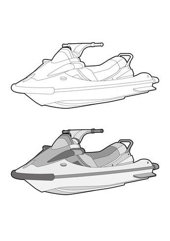 Modèle d'illustration de conception vecteur jet ski