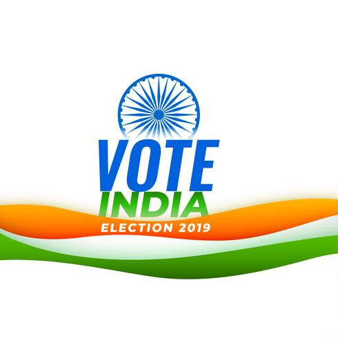 vote india election background with indian flag
