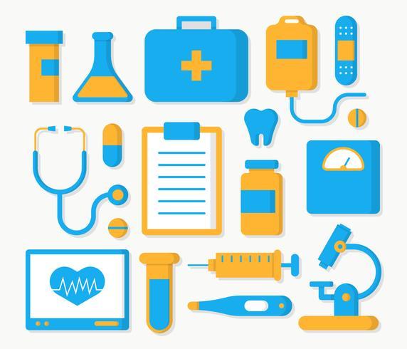 Vetor de coleção de elemento de saúde