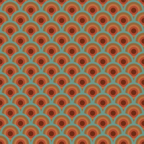 Patrón retro colorido