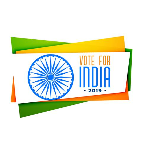 rösta india banner i tri färg