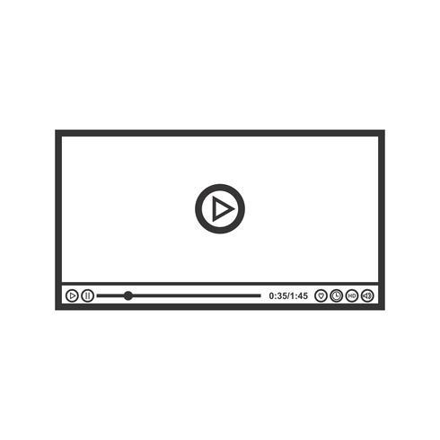 Videospeler lijn zwart pictogram