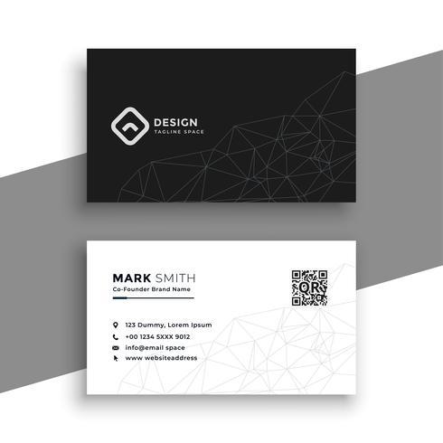 eenvoudig zwart-wit visitekaartje