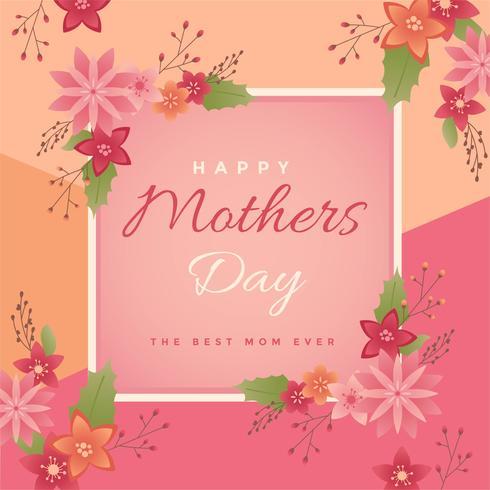 felice giorno di madri vettoriale