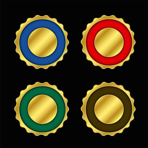 aantal lege kleuren gouden etiketten of badge