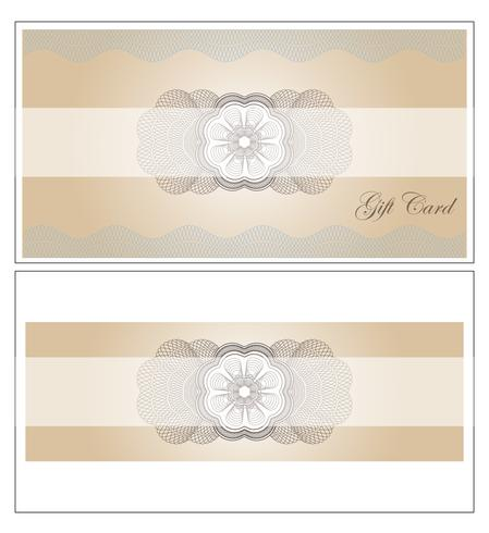 De illustratiemalplaatje van het Giftcard vectorontwerp