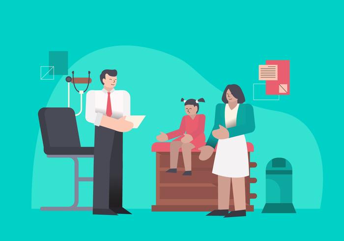 Doctor Suggest Medical Checkup Recibo ilustración vectorial