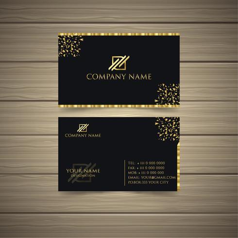 Gouden visitekaartje