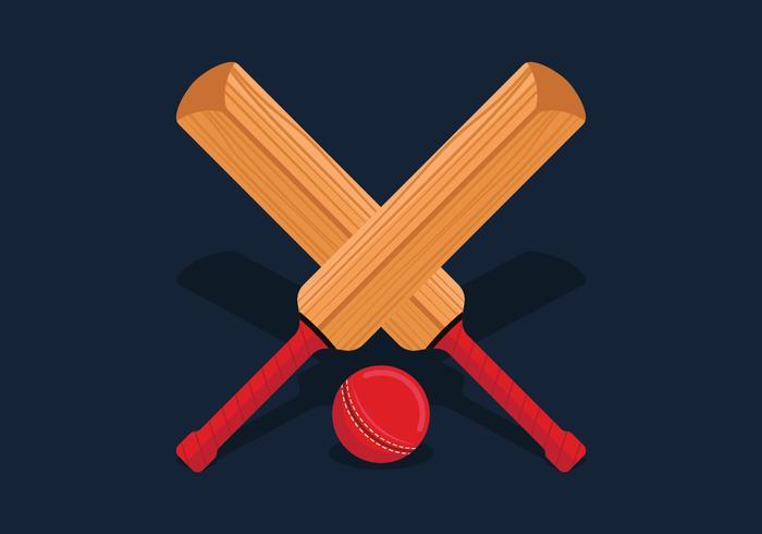 Vecteur de batte de cricket