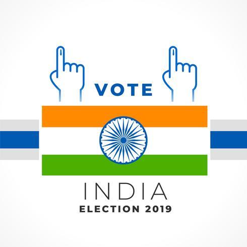 diseño elegante de la bandera de la India del voto