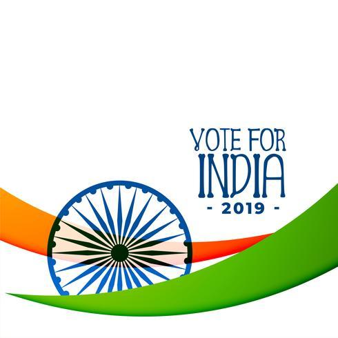 diseño de fondo de elecciones India 2019