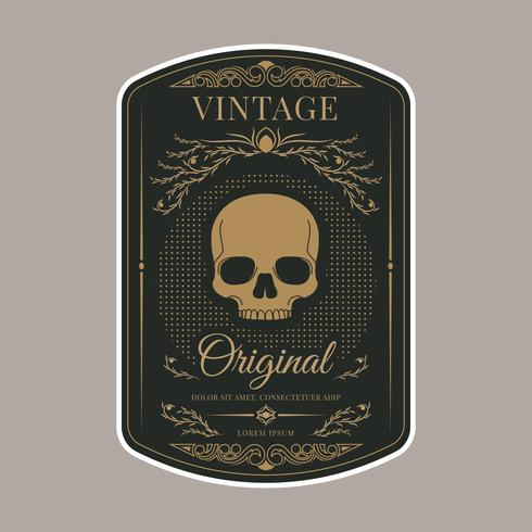 Plantilla de etiqueta vintage retro