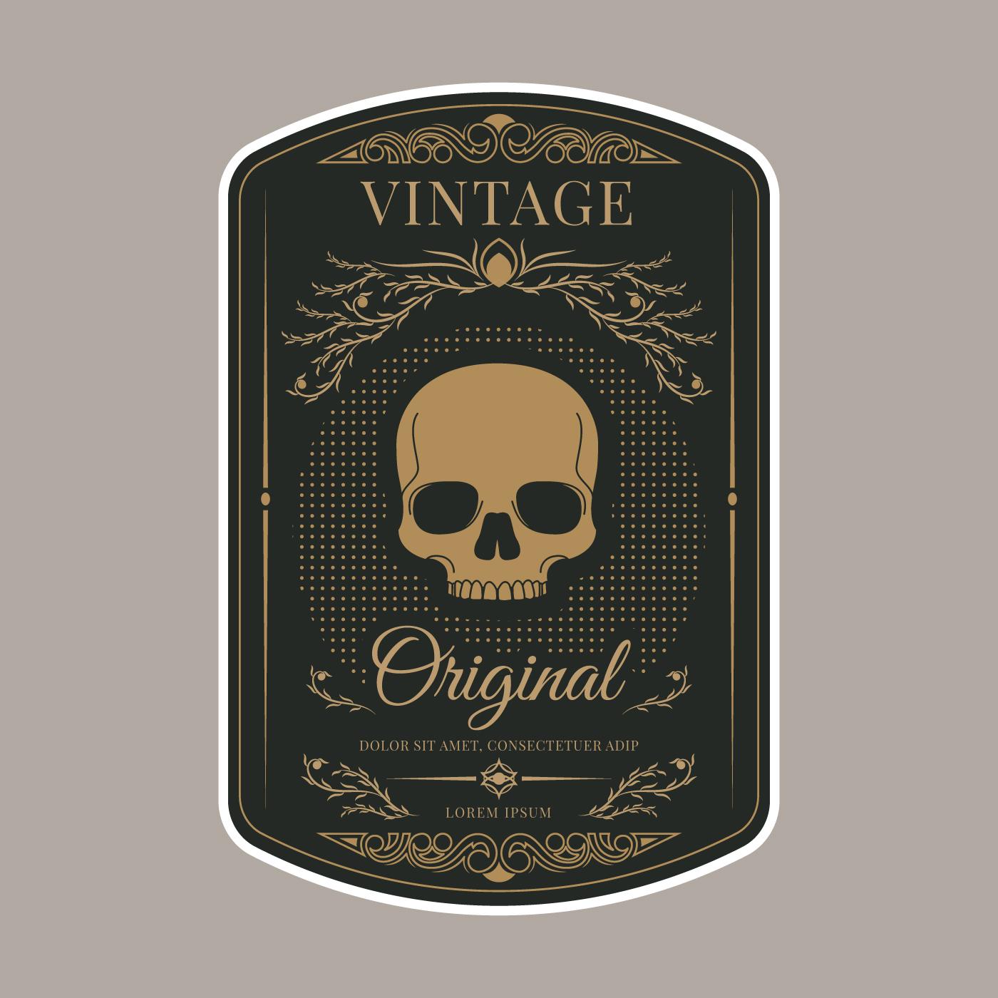 Retro Vintage Label Template - Download Free Vectors ...