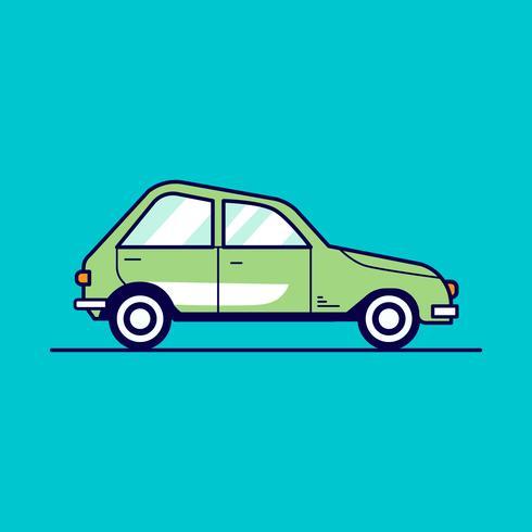 Illustration vectorielle de voiture rétro