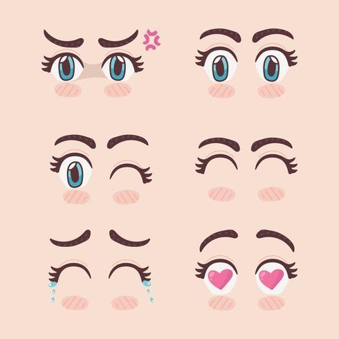Conjunto De Ojos De Manga