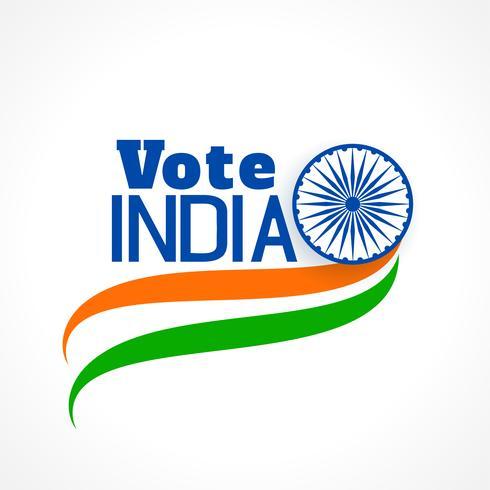 indian val banner med tri färg flagga