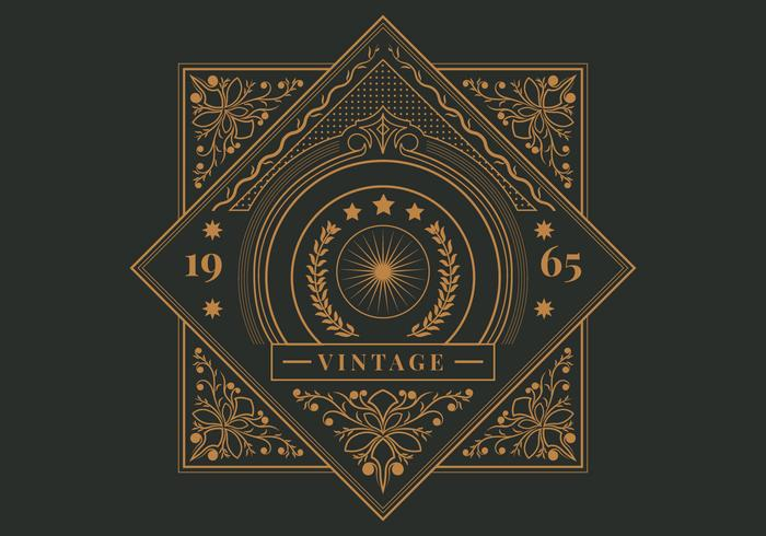 Retro Vintage Label Template Vector - Download Free Vector