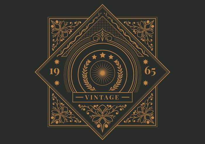 Retro Vintage Label sjabloon