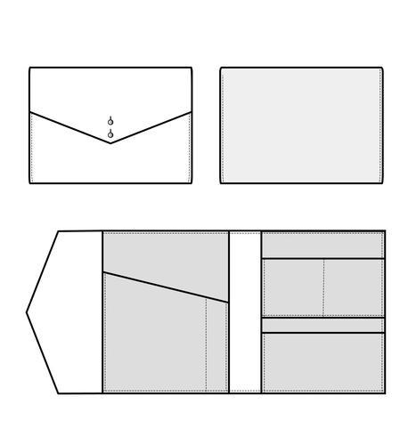 Plantilla de bocetos planos de ilustración de diseño de embrague