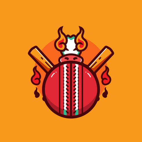 cricket bal vector