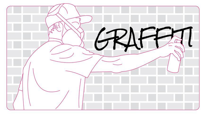 Cute Graffiti Vector