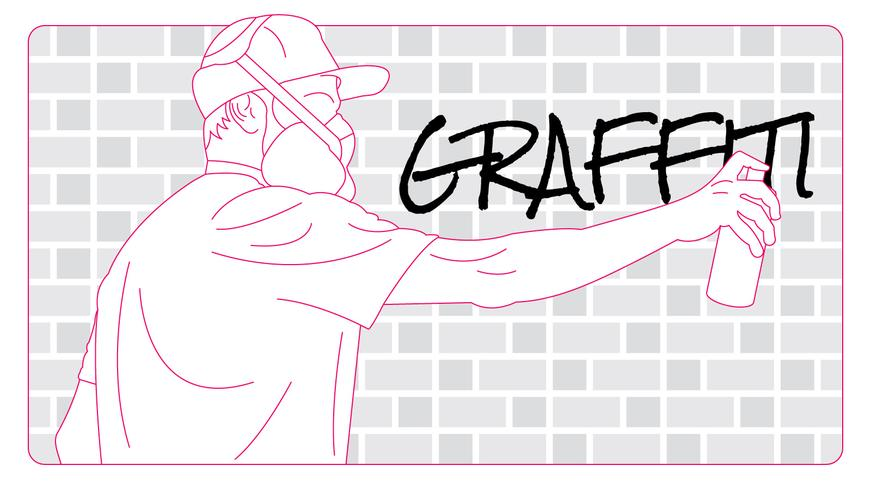 Lindo vector de graffiti