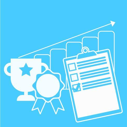 Acompanhe a faixa de progresso de negócios. Ilustração vetorial plana vetor