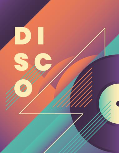 Diseño de cartel disco