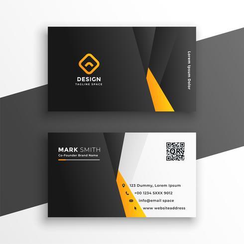 företags visitkort i gul geometrisk stil